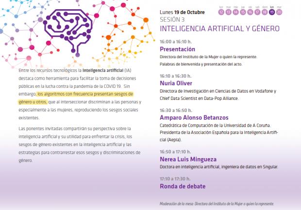 Montero monta un seminario sobre el machismo de los algoritmos: «Tienen sesgos de género»
