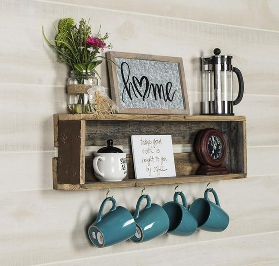 Pasos para hacer un rincón del café en casa con un palet