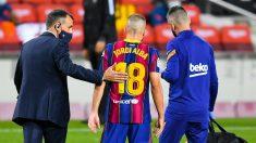 Jordi Alba se lesionó en el partido contra el Sevilla. (Getty)