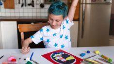 Los pasos para hacer un cuadro con plastilina con los niños