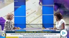 Esperanza Aguirre ridiculiza a TVE: «Aquí le llaman doctor Simón, pero no ha hecho el doctorado ni el MIR».