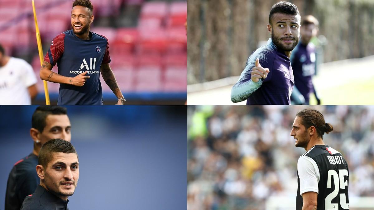 Neymar, Rafinha, Verratti y Rabiot.