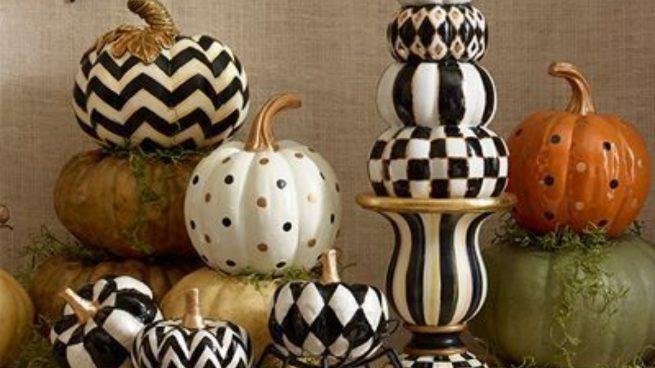 Cómo decorar la casa en otoño con calabazas personalizadas