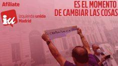 Campaña promocional de IU Madrid.