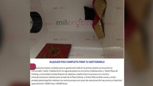 PIso de alquiler para prostitutas en Benalmádena