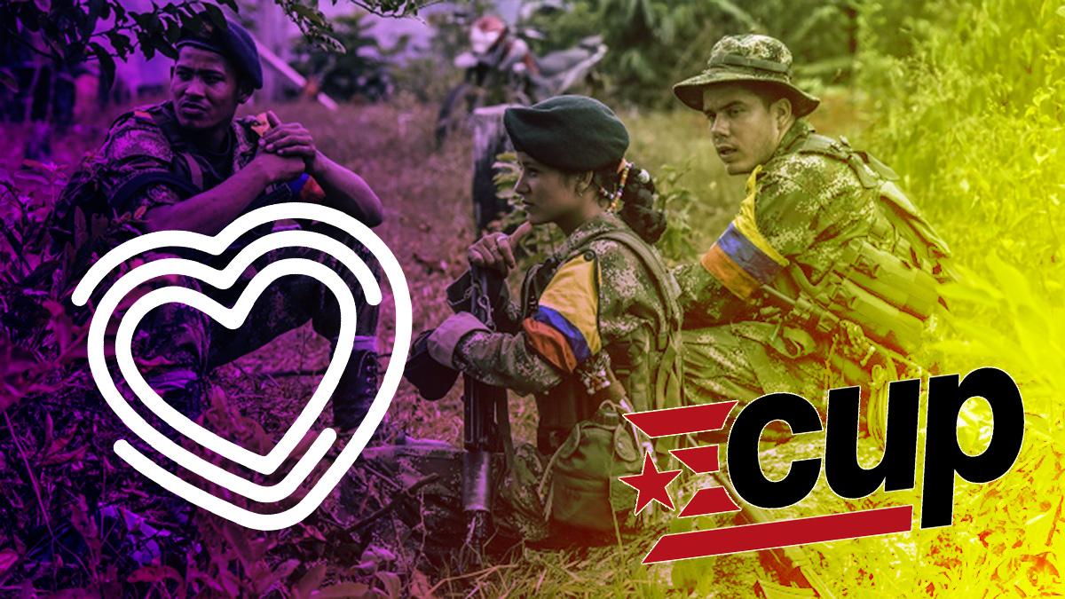 Las juventudes de Unidas Podemos y la CUP se unen a favor de las FARC.