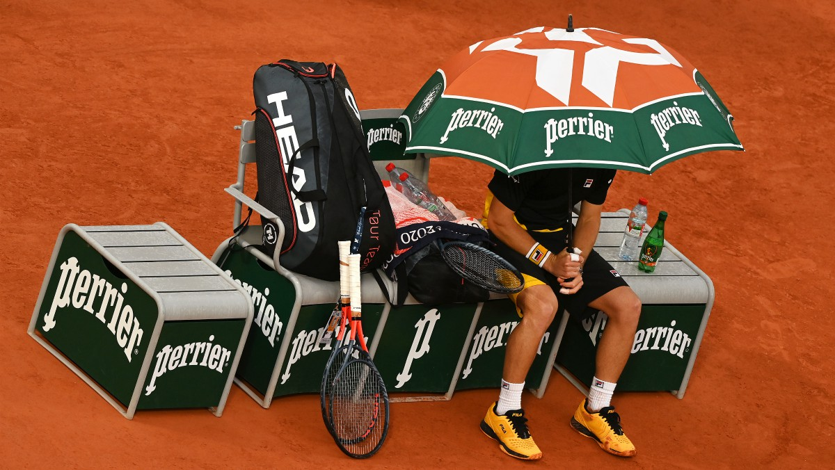 Imagen de un partido de Roland Garros. (Getty)