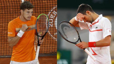 Pablo Carreño y Novak Djokovic. (Getty)