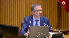 Pablo Hernández de Cos, este martes en el Congreso de los Diputados