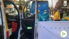 Un autobús atropella a una mujer de 65 años en Tirso De Molina.