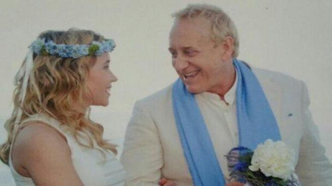 Josep Maria Mainat en su boda con Angela Dobrowolski