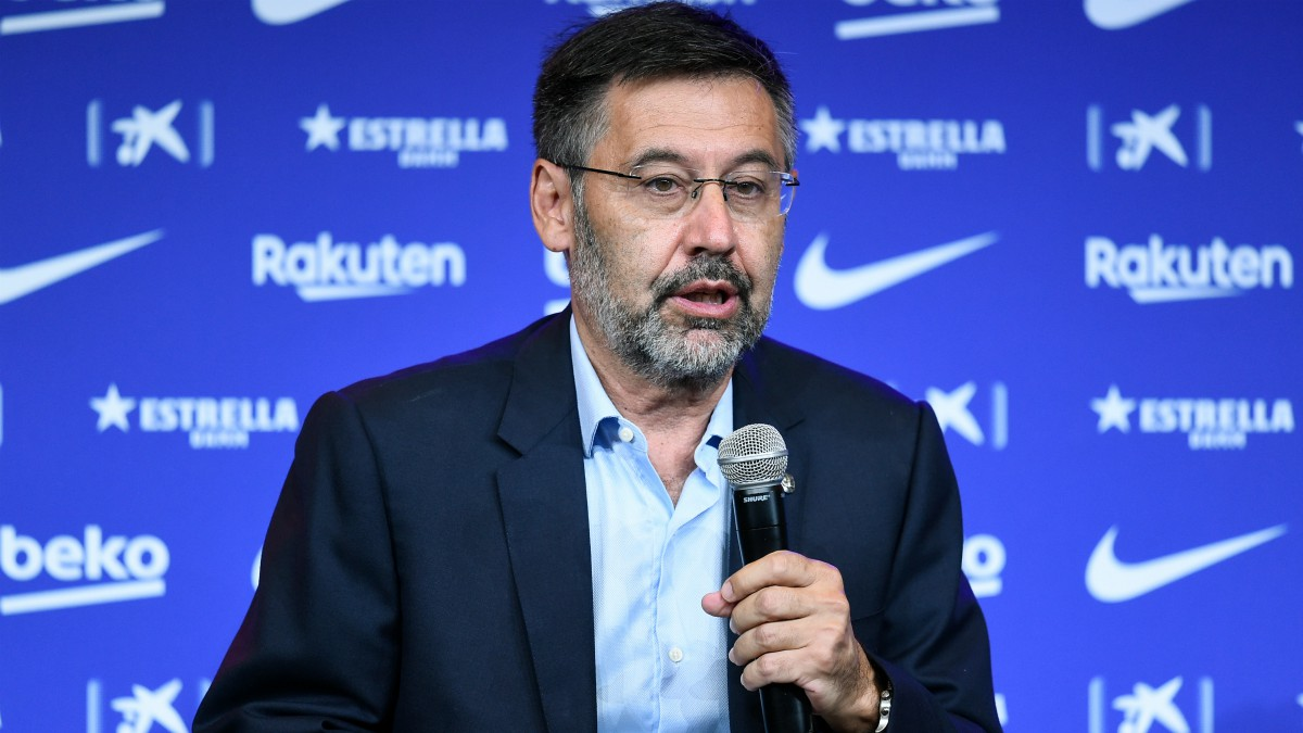 Bartomeu durante un acto con el Barcelona. (AFP)