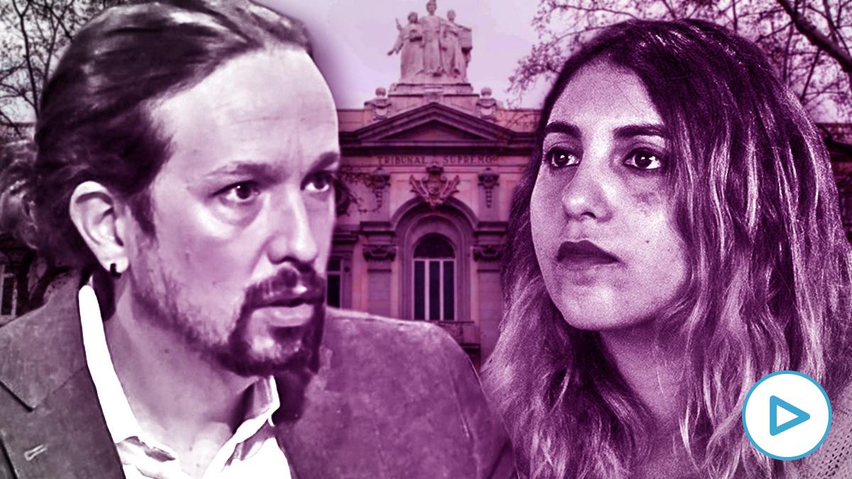 El vicepresidente del Gobierno Pablo Iglesias y su asesora Dina Bousselham, que dirige el libelo de Podemos.