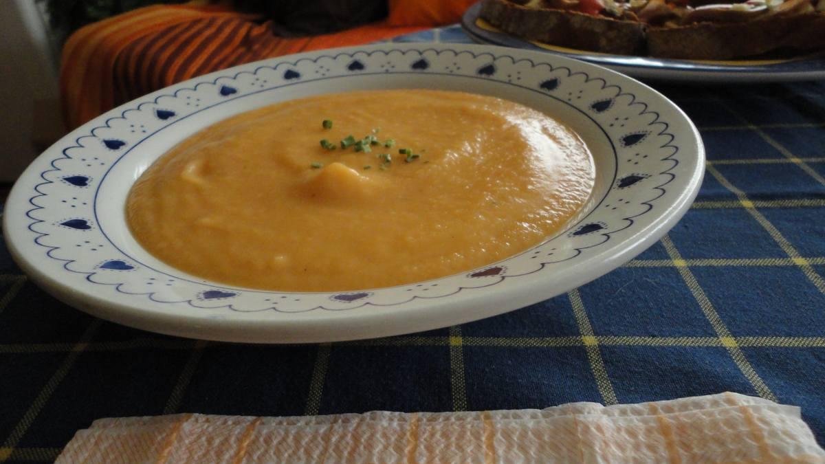 Receta de Crema de zanahoria y sésamo