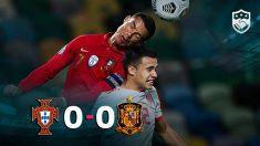 Portugal y España empataron a cero en Lisboa.