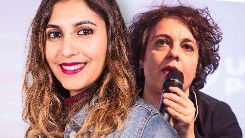 Dina Bousselham y Gloria Elizo