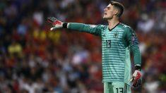 Kepa, durante un partido con España. (AFP)
