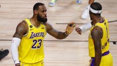 Lebron James completó un partidazo para dejar a los Lakers más cerca del anillo. (Getty)