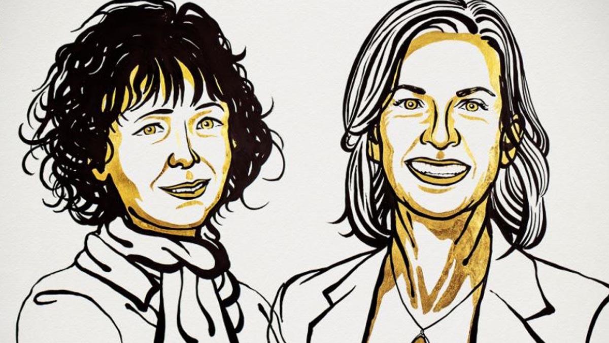 Emmanuele Charpentier y Jennifer A. Douda, ganadoras del Nobel de Química 2020.