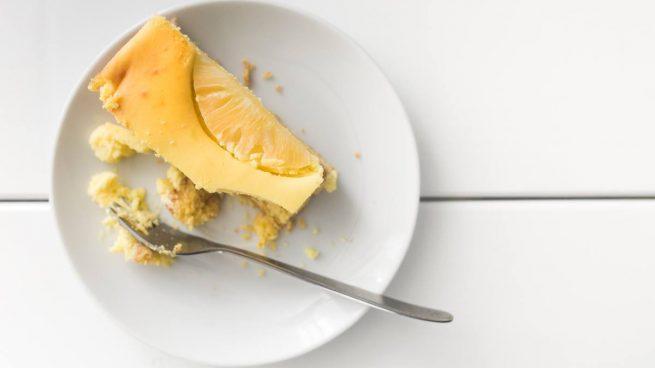 Tarta vegana de queso y plátano