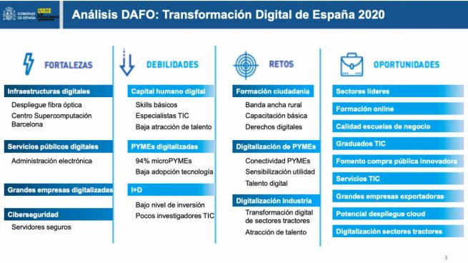 El análisis DAFO 'fake' del Gobierno: quita las 'amenazas' y las sustituye por 'retos'
