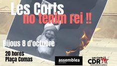 El separatismo catalán llama a quemar fotos de Felipe VI en su visita a Barcelona.