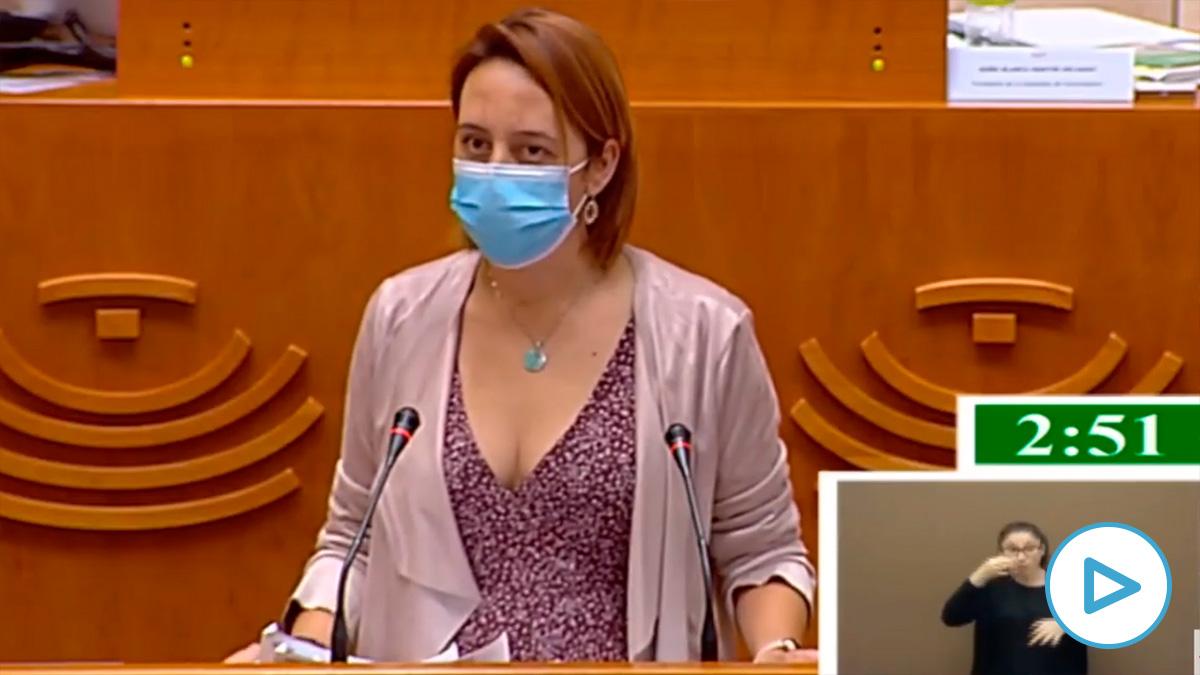 Lorena Rodríguez Lucero, diputada de Podemos en la Asamblea de Extremadura: «Estamos ante un golpe de estado judicial contra Pablo Iglesias».