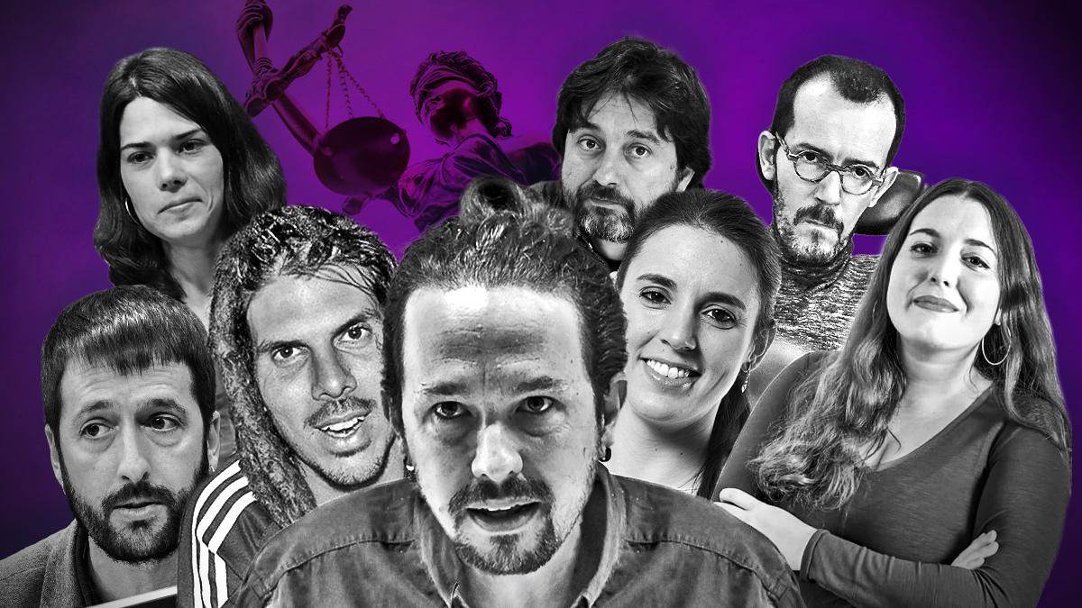 Hasta 8 miembros de los 21 de la Ejecutiva de Podemos se han visto envueltos en procedimientos judiciales.
