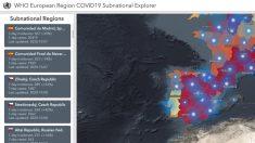 Monitor de evaluación del COVID de la OMS para las regiones de Europa.