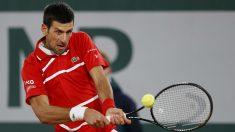 Djokovic, en el partido contra Tsitsipas. (Getty)