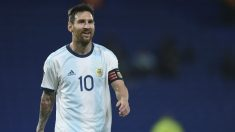 Leo Messi, en el partido ante Ecuador. (AFP)