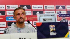 Luis Enrique, en rueda de prensa. (SeFútbol)