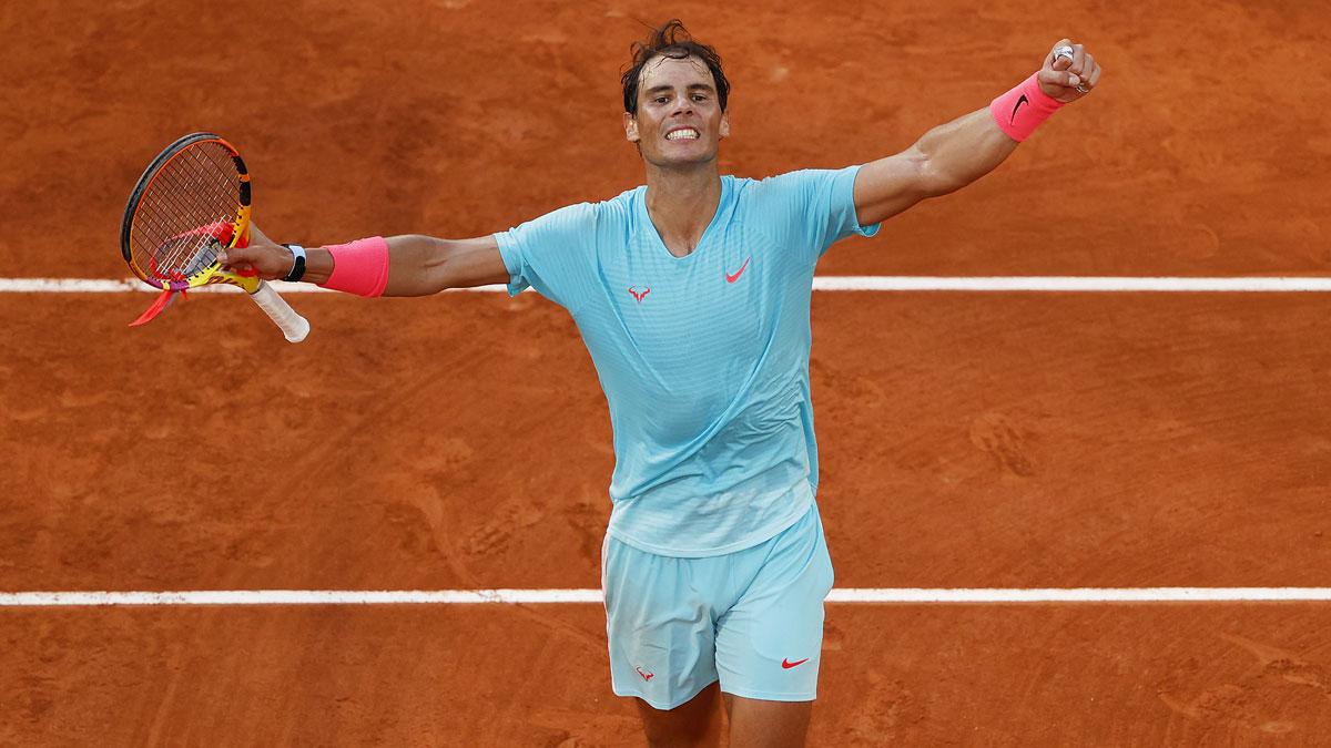 Nadal celebra el pase a la final de Roland Garros 2020 (Getty)