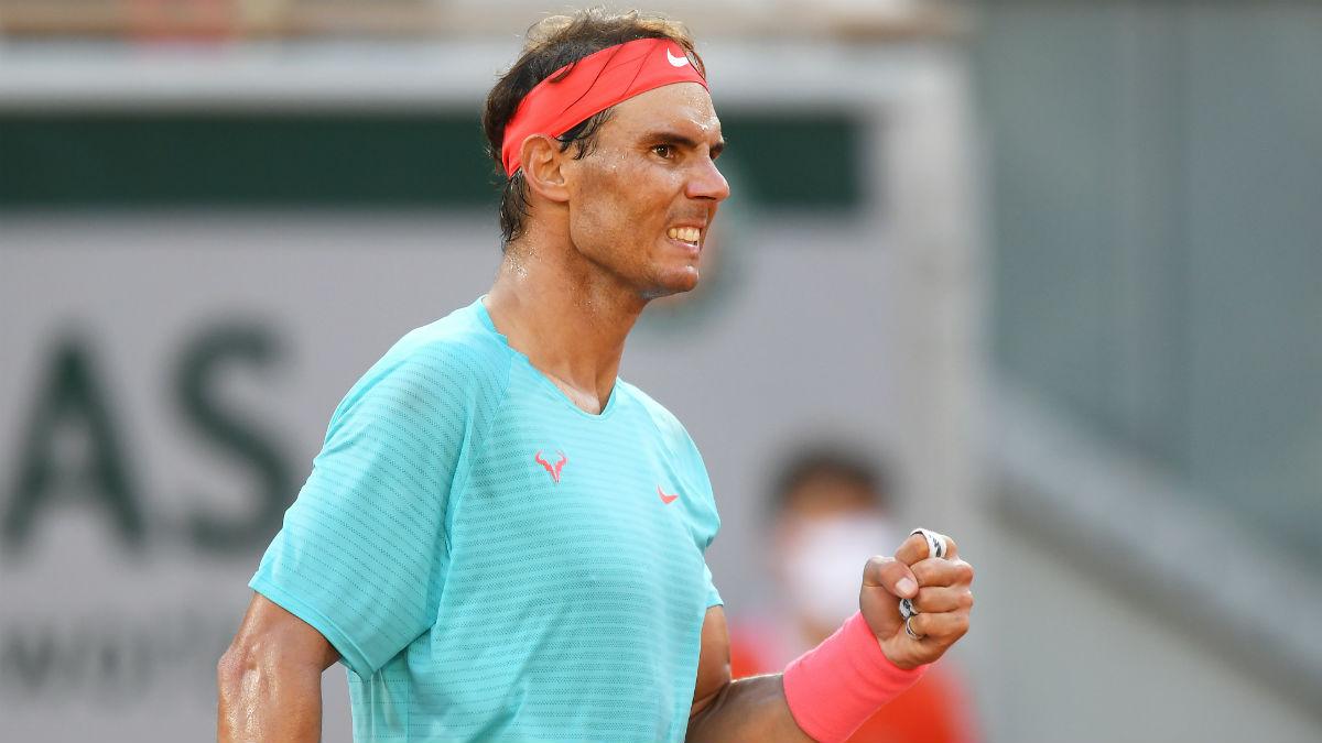 Rafa Nadal celebra un punto contra Schwartzman. (Getty)