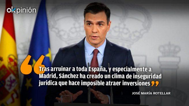 La verdadera alarma es el Gobierno de Sánchez