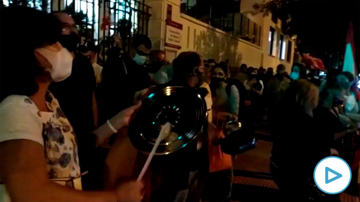 Protestas contra Sánchez en Núñez de Balboa