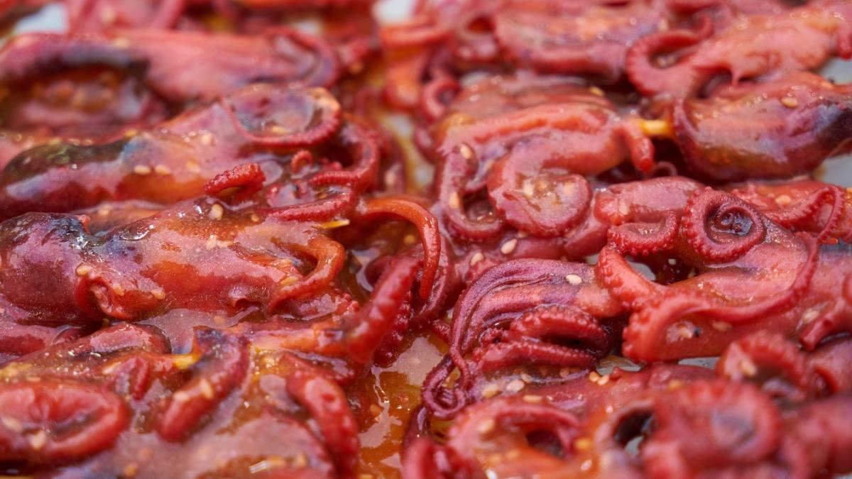 Receta de Pulpo asado con salsa suave de vino