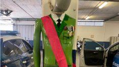 Muñeco del Rey 'ahorcado' en una comisaría de los Mossos.