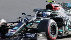Valtteri Bottas durante la clasificación del Gran Premio de Eifel. (AFP)