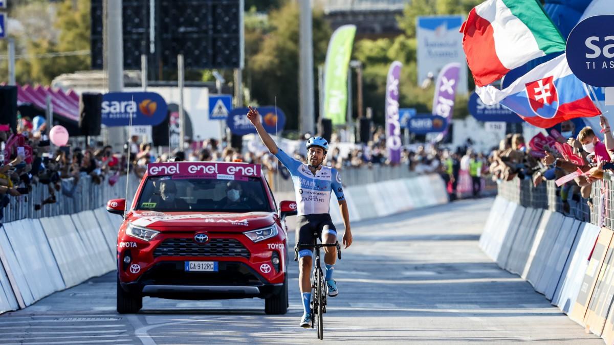 Giro de Italia 2020: clasificación de la etapa 8 de hoy, sábado 10 de octubre, tras la victoria de Dowsett. (AFP)