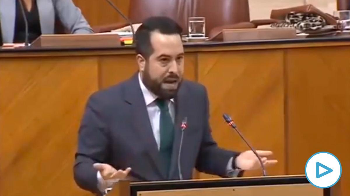 El diputado de Ciudadanos Fran Carrillo desmontado a POSE y Podemos en el Parlamento andaluz.