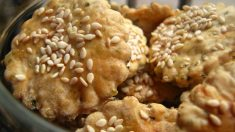 Receta de Crackers con sésamo sin gluten