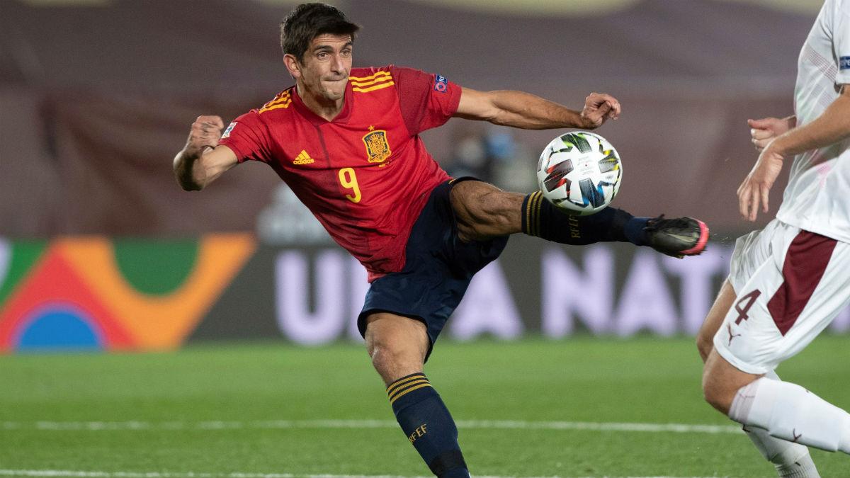 Gerard Moreno, en el partido contra Suiza. (EFE)