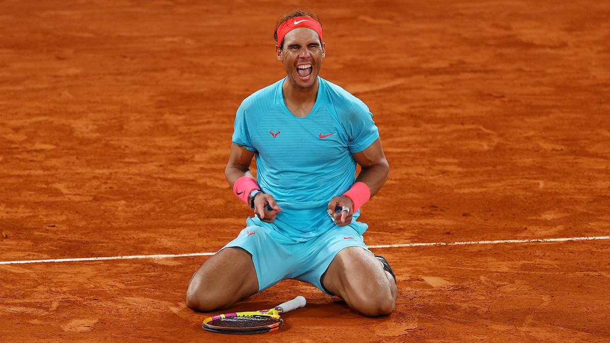 Nadal celebra su victoria en Roland Garros. (Getty)