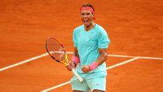 Nadal celebra un punto en Roland Garros. (Getty)