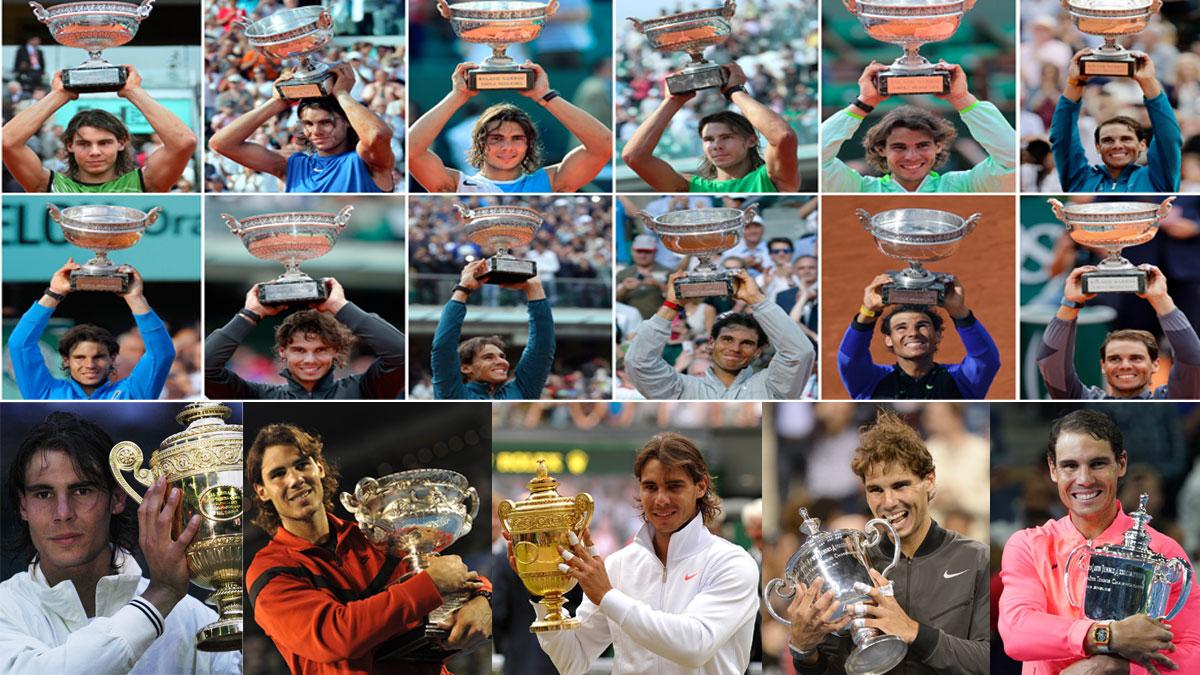 Nadal ha conquistado su vigésimo Grand Slam (Getty y AFP)