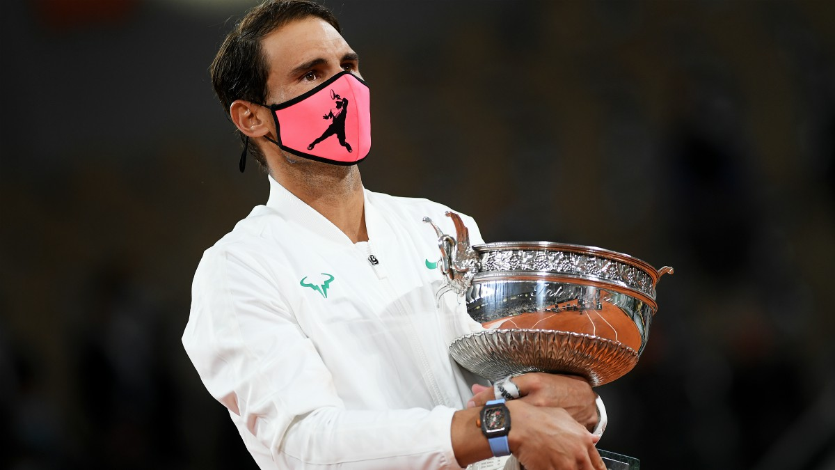 Rafa Nadal, con su decimotercer Roland Garros. (Getty)