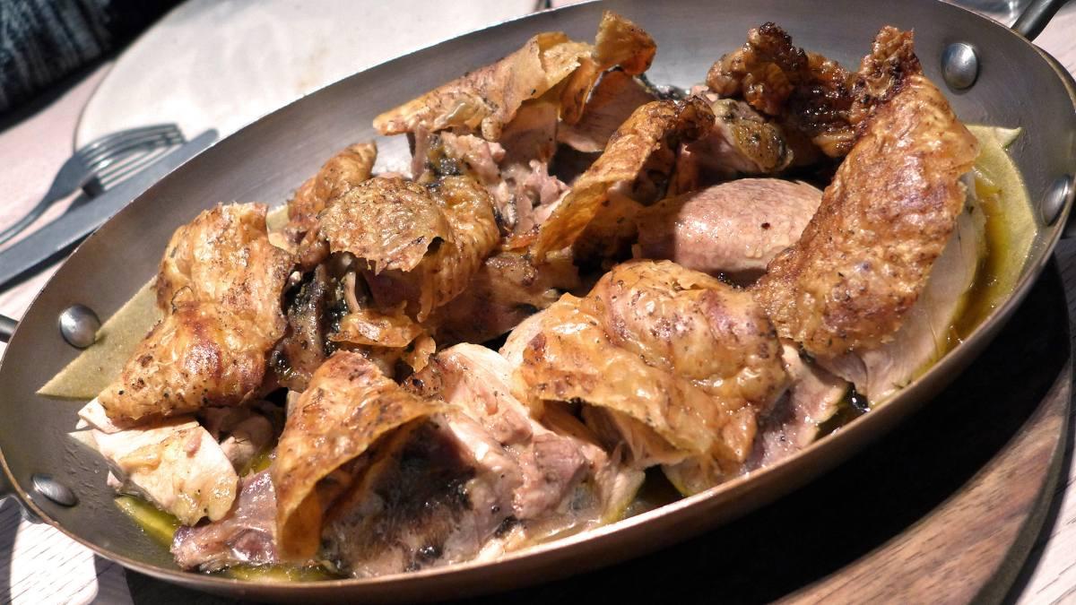 Receta manchega de pollo asado al horno