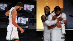 Boston Celtics y Los Angeles Lakers, con 17 anillos. (Getty)