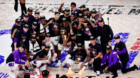Los Angeles Lakers, campeones de la NBA. (Getty)